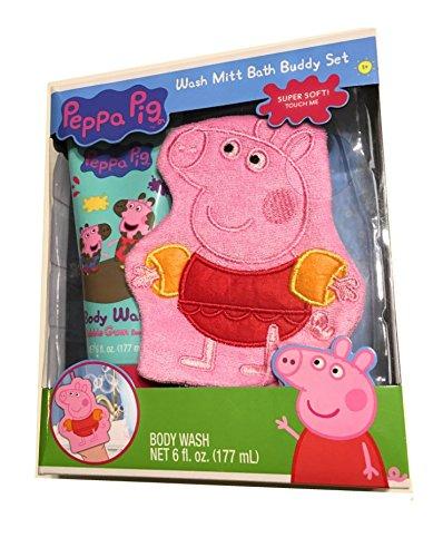 Peppa Pig Bath Buddy Set- Wash Mitt and Body Wash ()