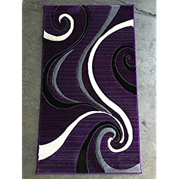 Amazon Com Modern Purple Black Amp Grey Door Mat Area Rug