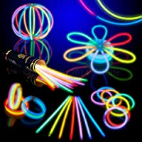 8 HotLite Brand Glowsticks Glow Stick Bracelets Mixed Colors (Tube of 100) Party Favor