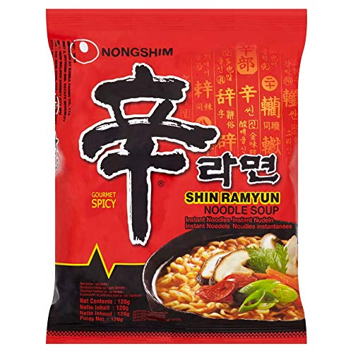 Nong Shim Shin Ramyun Noodle Soup (Hot And Spicy) 120G x 5 packs ()