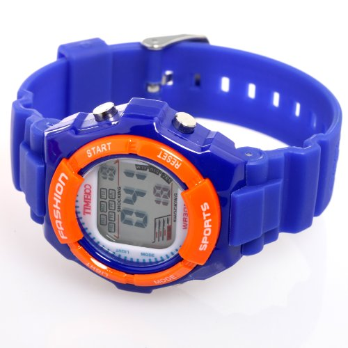Time100 Kids\u0026#39; Digital Timing Multifunctional Dark Blue Strap Sport ...