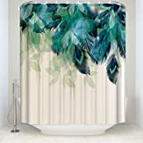 Unique Design Peacock Feathers Bath Curtains Birds Feather Wildlife Animal Nature Home Decorations Collection Bathroom Sets 66x72Inches