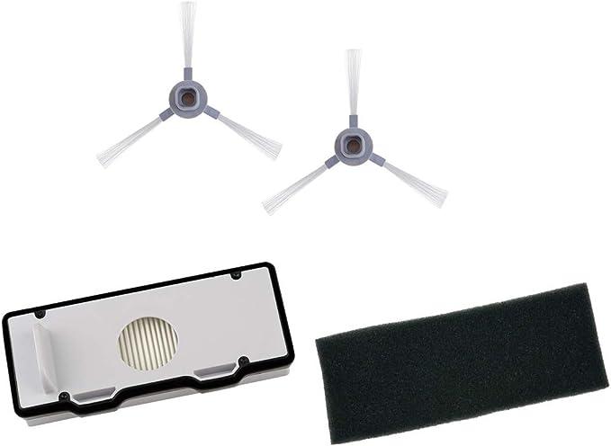 Rowenta ZR177001 - Juego de cepillos Laterales y filtros para Robot Aspirador Explorer 80 (3 Piezas): Amazon.es: Hogar