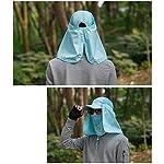 quanjucheer Capuchon de pêche, Protection UV extérieur pour Le Visage, Le Cou, la tête et la visière 14