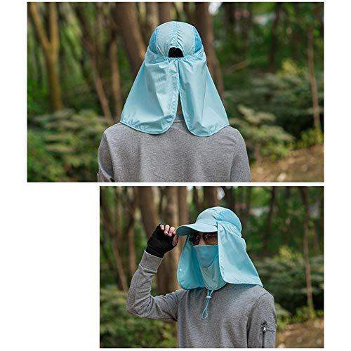 quanjucheer Capuchon de pêche, Protection UV extérieur pour Le Visage, Le Cou, la tête et la visière 7