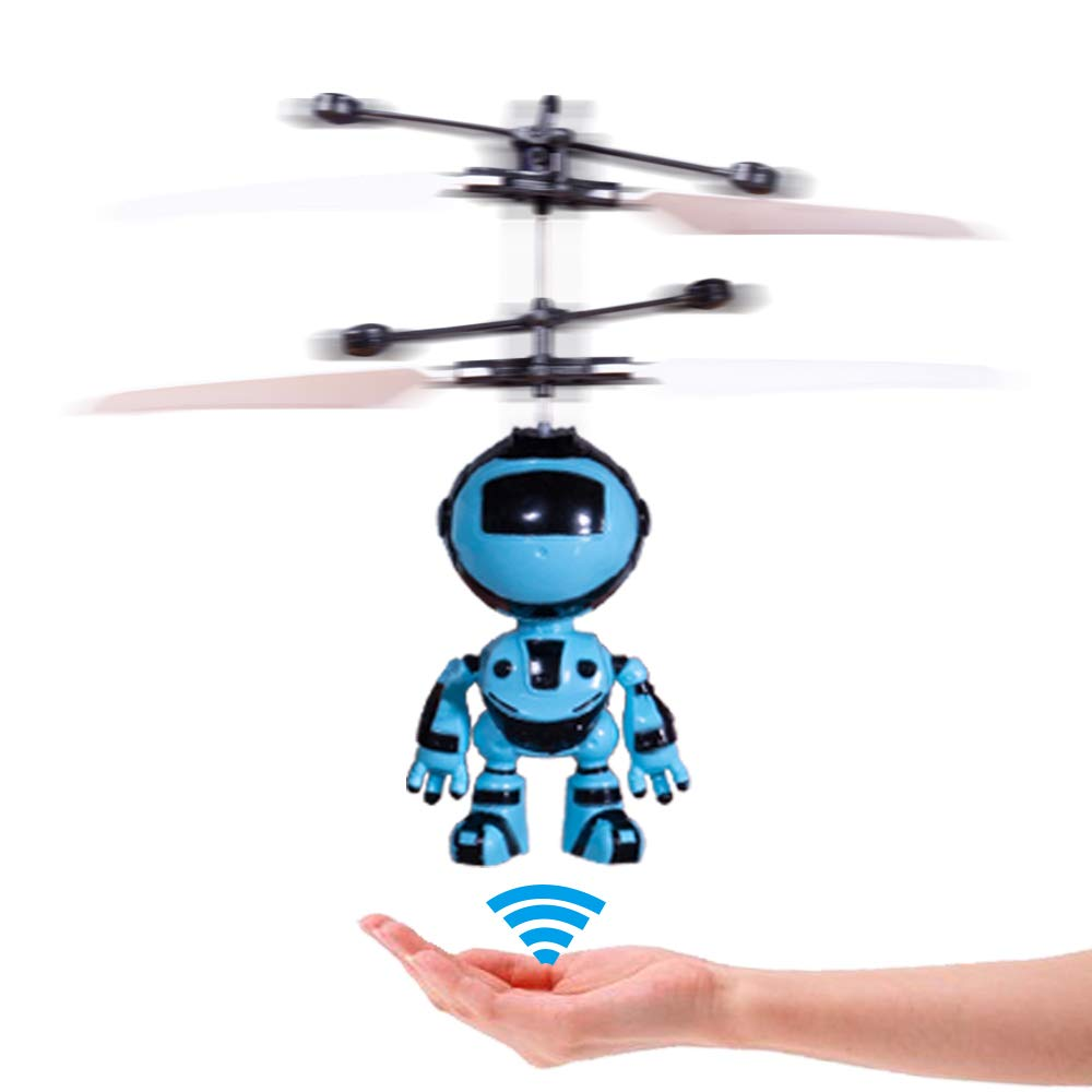 PALA PERRA RC Helicopter Flying Toys with Rechargeable Mini Infrared Induction Drone, RC Toys for Kids Boys Girls Indoor Games (Flying Robot) by PALA PERRA