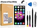 Compatible with iPhone 6 Plus Screen Replacement 5.5 inch (White), COASD LCD Digitizer Touch Screen Assembly Set with 3D Touch, Repair Tools and Professional Replacement Manual Includ (6 Plus White)