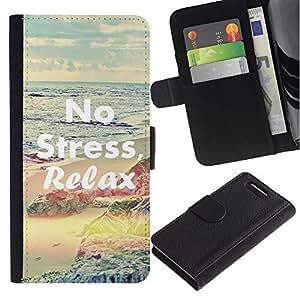 iKiki Tech / Cartera Funda Carcasa - Relax Yoga Health Sport Calm Peace - Sony Xperia Z1 Compact D5503