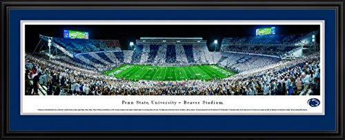 Penn State Football - Stripe - Blakeway Panoramas College Sports Posters with Deluxe - Print Team Framed Football