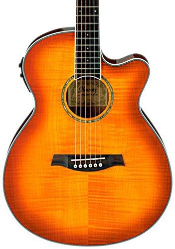 Ibanez AEG20II Flamed Sycamore Top Cutaway Acoustic-Electric Guitar Vintage Violin by Ibanez