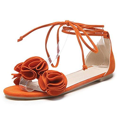 Femmes Taoffen Appartements Doux Sandales Orange 8