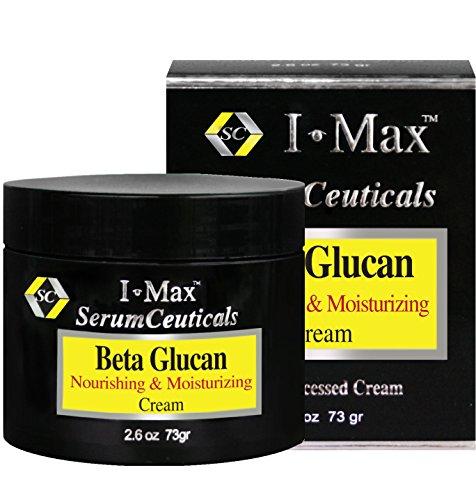 I Max bêta glucane 5% Nourrissant & Crème Hydratante enrichis par céramides, lipides du lait, D-panthénol pour la guérison, apaisante et rajeunissement de la peau.