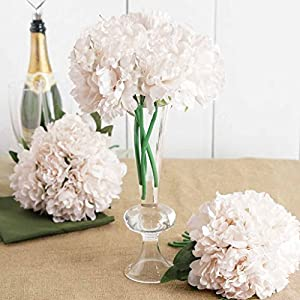 "Efavormart 5 Head Artificial Peony Silk Bouquet for Wedding Bridal Vases Decor - 11"" Tall 66"