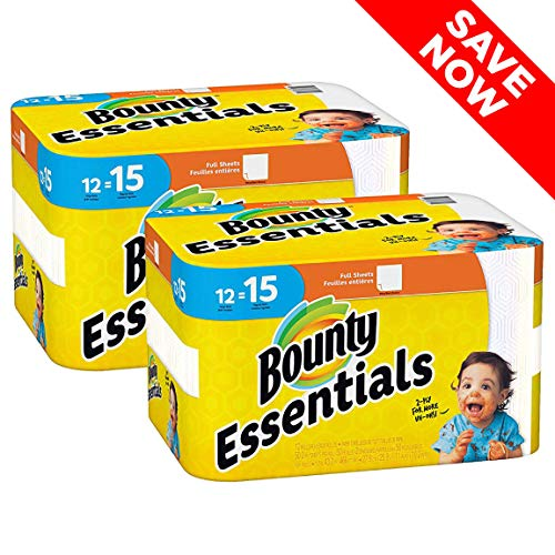 Bounty Essentials Full Sheet Paper Towels, 24 Large Rolls (Available Paper)