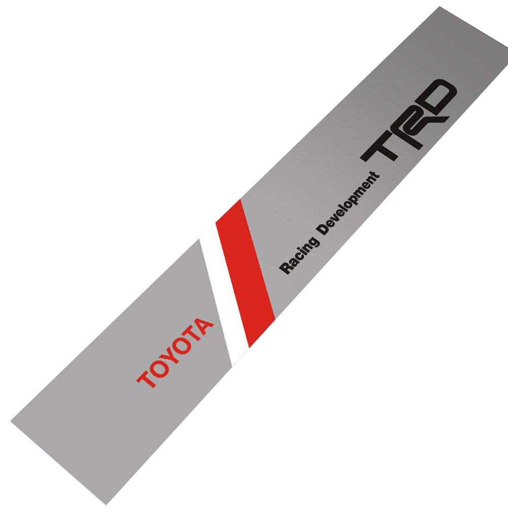 Silver Background Demupai Front Windshield Banner Decal Vinyl Car Stickers for Toyota TRD Racing Development