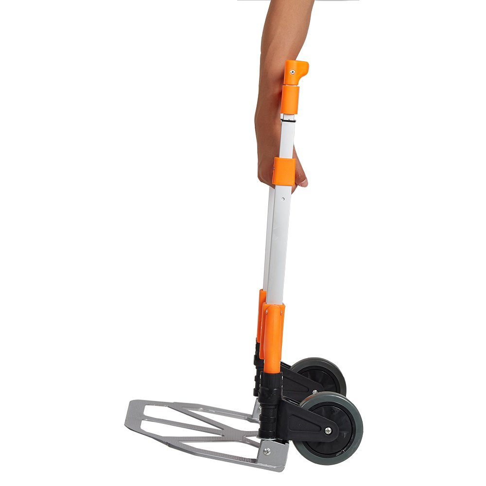 Lucky Tree Folding Hand Truck Aluminium Portable Dolly Cart with Wheels for Office Travel Home Use 170lbs Capacity by Lucky Tree (Image #5)