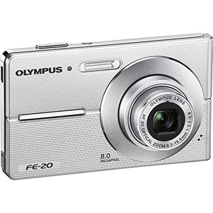 amazon com olympus fe 20 8mp digital camera silver refurbished rh amazon com olympus fe-20 specifications olympus fe-20 specifications