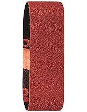 Bosch 2 609 256 183 - Juego de hojas de lija de 3 piezas para lijadora minibanda de Bosch, calidad roja (pack de 3)