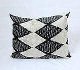 Velvet Ikat Pillow | HARLEQUIN 15x24 | Uzbek Ikat Pillows | Velvet Ikat Pillow| Uzbekistan Decorative Pillow| Handwoven Pillow