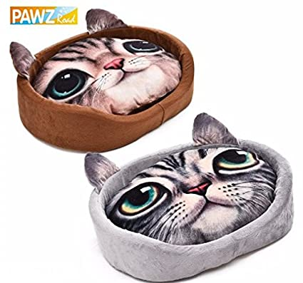 Amazon PAWZ Road Lovely Cat 60D Realistic Pattern Pet Bed Soft Enchanting Dog Sleep Pattern