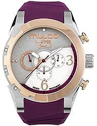 Mulco Era Bella Quartz Swiss Chronograph Movement Womens Watch | Mother of Pearl Sundial Display with Swarovski...