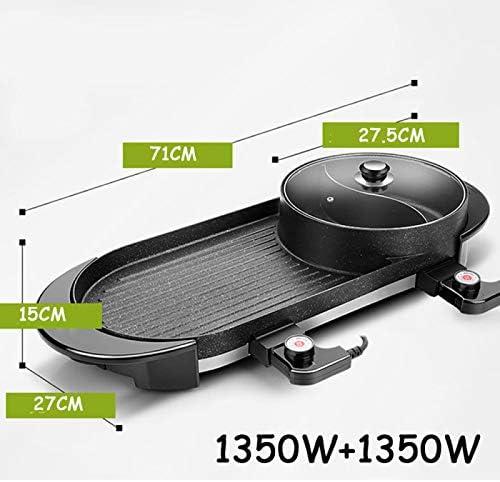 SONLI Électrique Hot Pot BBQ Ménage Multifonctionnel Barbecue Poêle À Frire À Double Usage Barbecue Grill Hot Pot Électrique Cuisson Pan