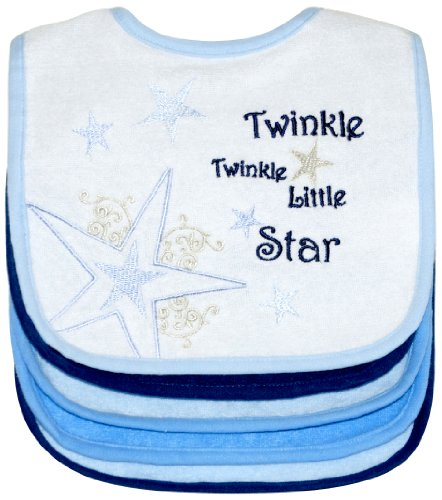 Twinkle Twinkle Little Star Bibs  5 Pack  Boy  Frenchie Mini Couture