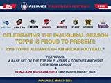 2019 Topps Alliance of American Football Hobby 12