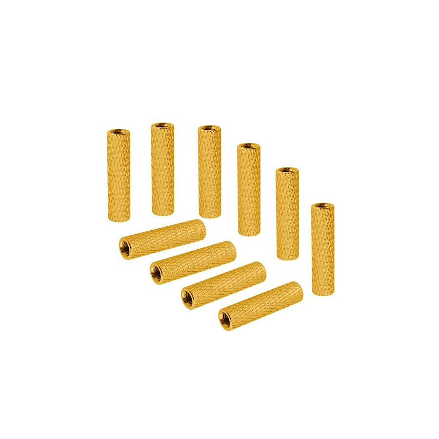 10PCS HobbyPark Aluminum M3x25mm Standoff Spacer Female-Female Round Column For Remote Control Drone Parts DIY Gold Yellow