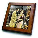 3dRose Scenes from the Past Magic Lantern Slides - Vitagraph Girl Florence Turner Silent Movies American Circa 1920s - 8x8 Framed Tile (ft_269947_1)