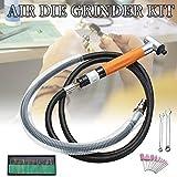 dezirZJjx Micro Air Die Grinder, 90 Degree 3mm Pneumatic Grinding Pen Micro Air Die Grinder Polishing Tool Kit