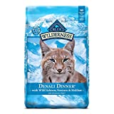 Blue Buffalo Wilderness High Protein Grain Free, Natural Adult Dry Cat Food, Denali Dinner with Wild Salmon, Venison & Halibut 10lb