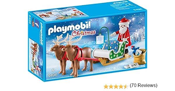 PLAYMOBIL- Trineo de Papá Noel con Reno Juguete, Multicolor, tu ...