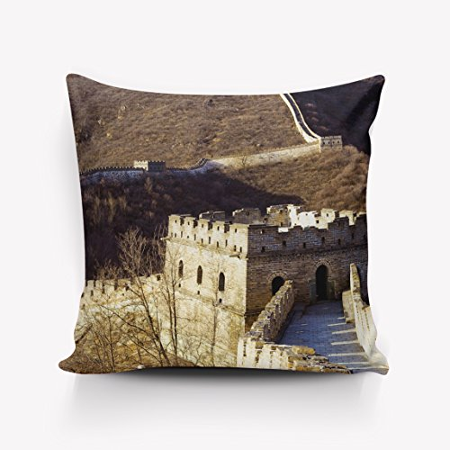 Scenes from the Past Magic Lantern - Vintage Chinese History Wall of China pillowcase 26x26inch,two sides by LovingIn