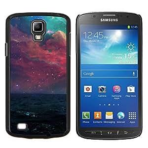 Hermosa galaxia púrpura- Metal de aluminio y de plástico duro Caja del teléfono - Negro - Samsung i9295 Galaxy S4 Active / i537 (NOT S4)