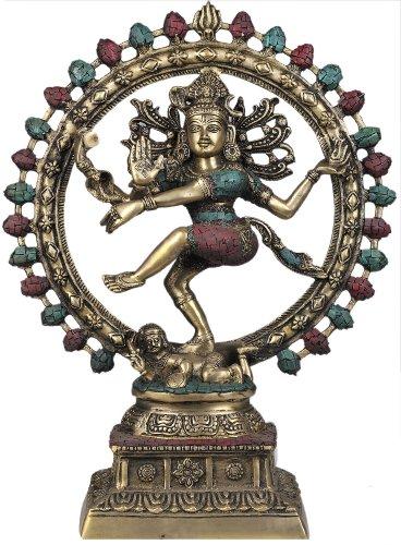 Lord Shiva as Nataraja (with Inlay Work) - Brass ()
