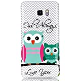 Urberry Note 5 Case, [Owl Twins Pattern] Flexible TPU Gel Rubber Soft Skin Protective Case Cover for Samsung Galaxy Note 5 and a Stylus