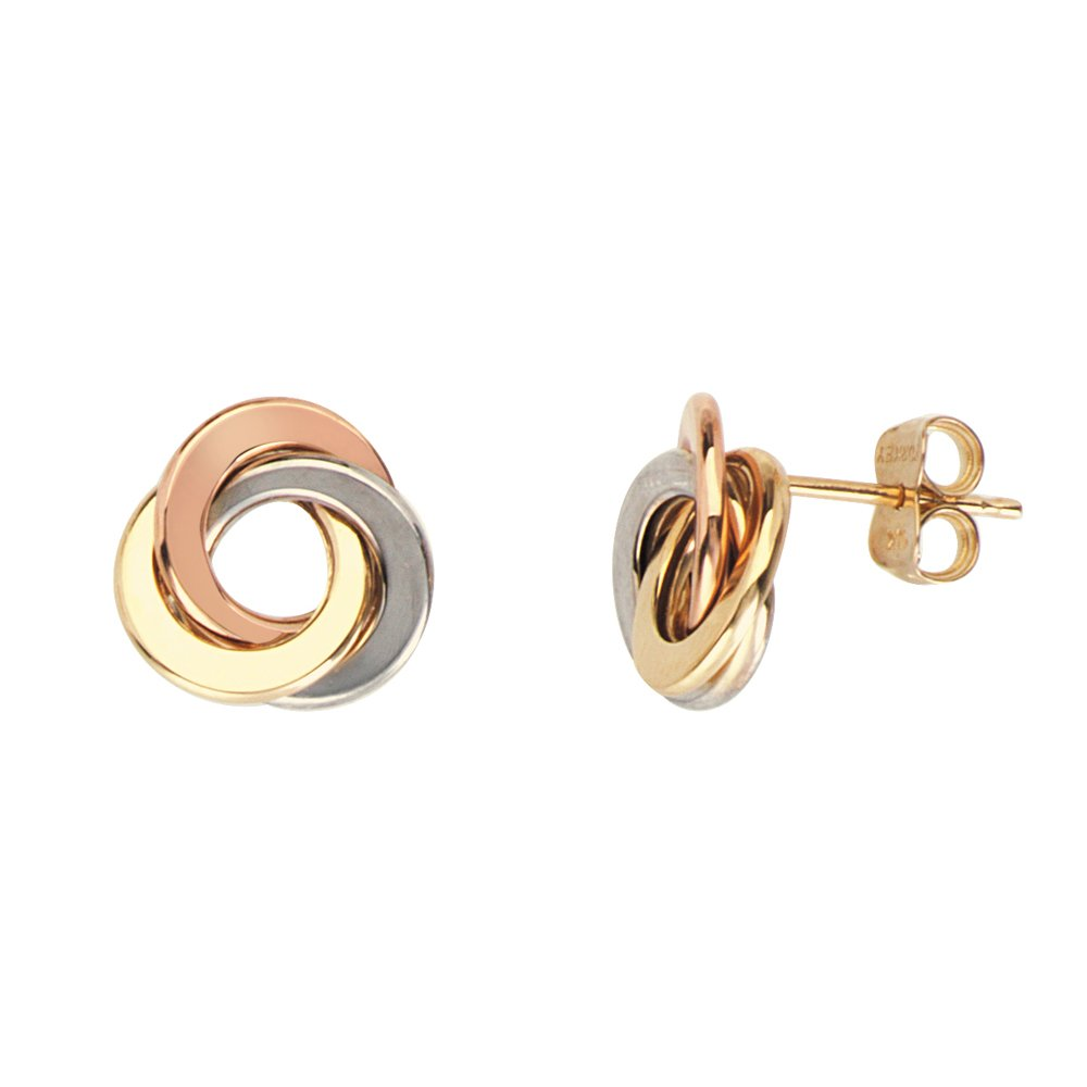 Love Knot Earring, 14Kt Gold Love Knotpost Earring