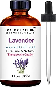 Majestic Pure Lavender Essential Oil, Therapeutic Grade, 1 fl. oz