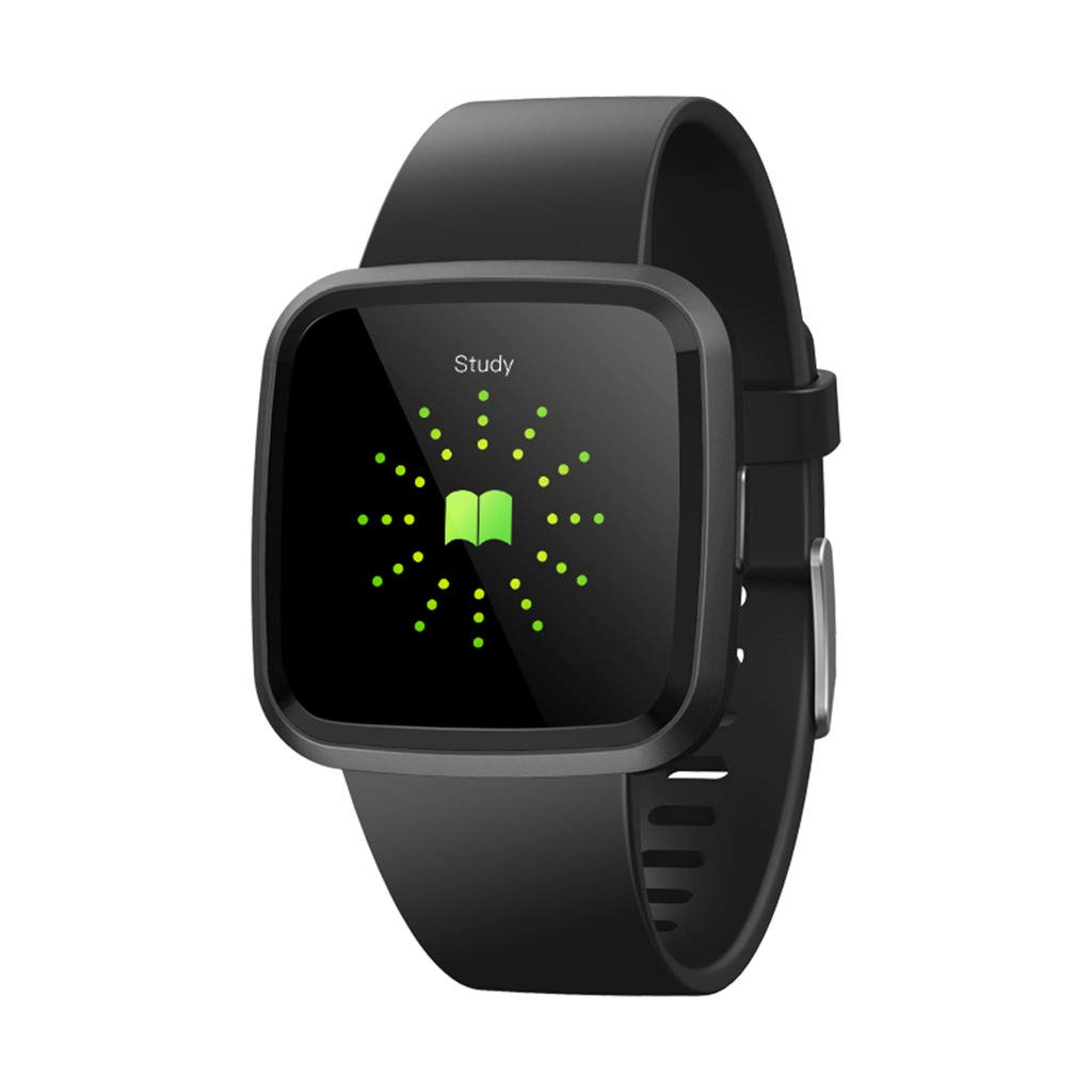 V12C Fitness Tracker, Activity Tracker Watch with Heart Rate Monitor, Smart Fitness Band with Step Counter, Pedometer Watch for Kids Women and Men (Black) by Besde Other (Image #3)