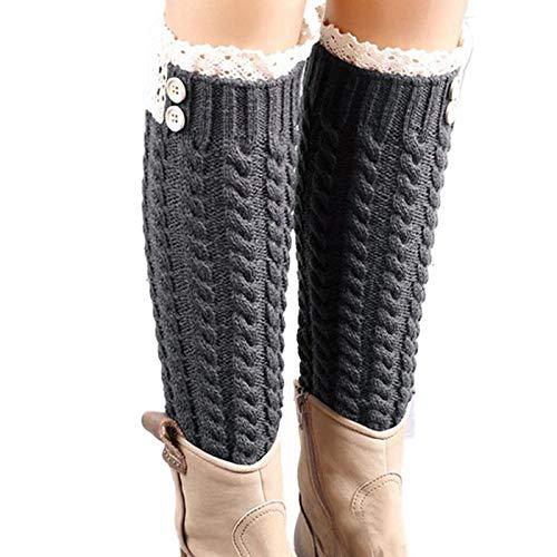Amazon.com: BCDshop Women 1 Pair Acrylic Knit Leg Warmer Women Winter Warm Soft Top Lace Twist Boot Socks(C): Health & Personal Care