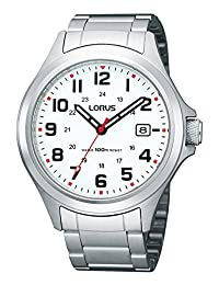 Lorus RXH03I Stainless Steel White Dial Watch