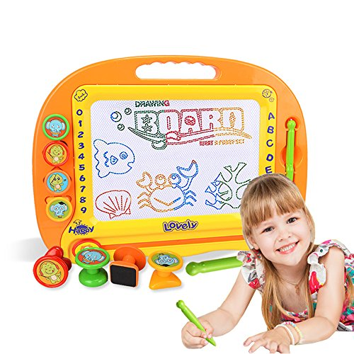 Style-Carry Magnetic Doodle Board Drawing Tablet - Magna Drawing Doodle Pro Erasable Writing Sketch Board Pad Educational Toys for Toddlers (Traditional Board)
