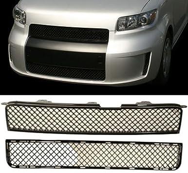 2PC Set 2008-2010 SCION XB Front Bumper Upper /& Lower Grille Black NEW PAIR