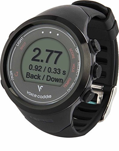 Voice Caddie T1 Hybrid Golf GPS Watch, Black by VOICE CADDIE