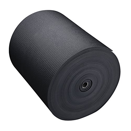 Big Economy Yoga Mat Roll (24''x 5mm x 104 ft) (Black) by Hello Fit