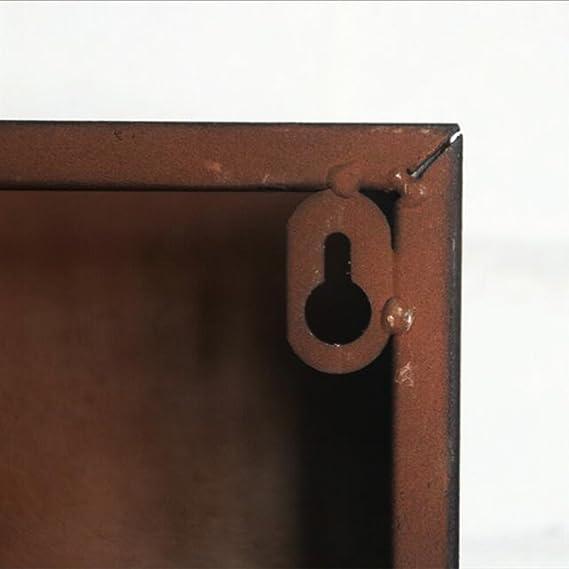 Revistero de pared Estante como estanter/ía Canasta de almacenamiento Estantes Soporte de exhibici/ón Estante para revistas de hierro met/álico Perchero par Revistero de hierro industrial estadounidense