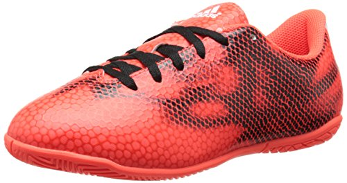 adidas Performance F5 IN J Soccer Shoe (Little Kid/Big Kid), Solar Red/Running White/Black, 4.5 M US Big Kid