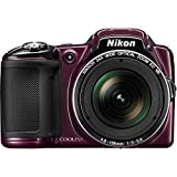 Nikon Coolpix L830 Digital Camera (Plum) (Renewed)