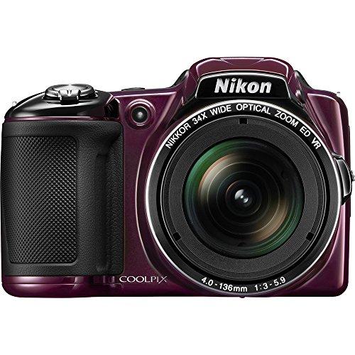 Nikon Coolpix L830 Digital Camera (Plum) (Certified Refurbished)